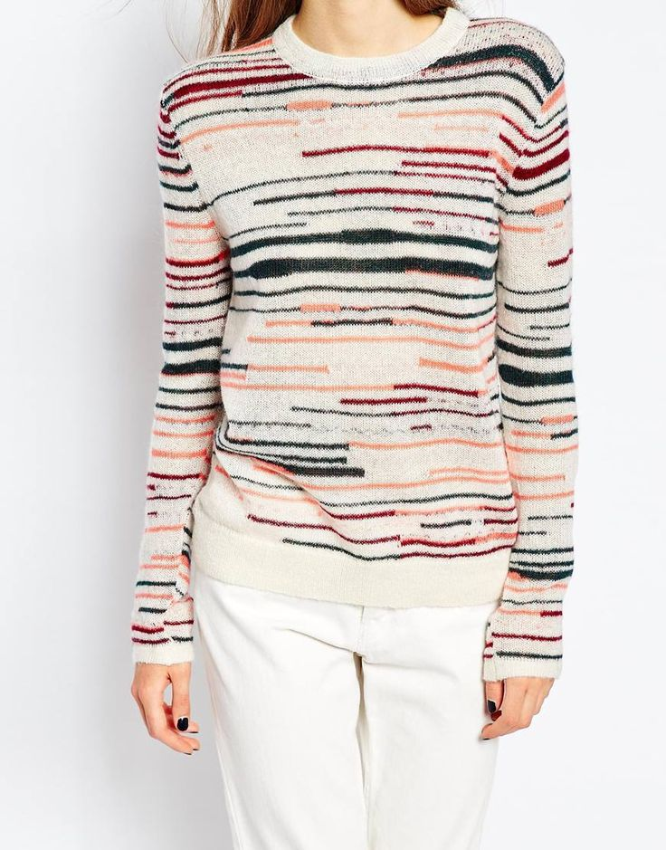 Image 3 of Paul by Paul Smith Classic Knit in Multi Stripe