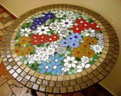 tampo de mesa floral