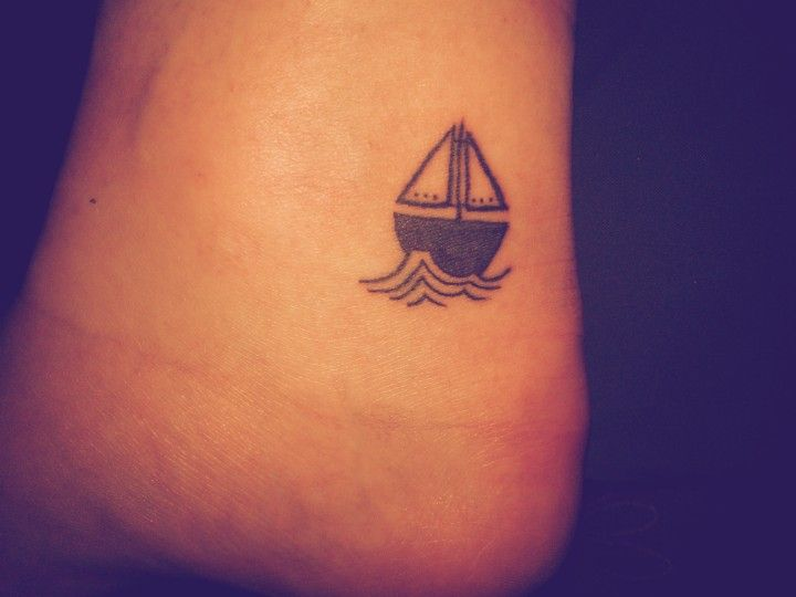 My first. It's a boat on my ankle. It's like my life was unstable and would require a change to come. Or something.