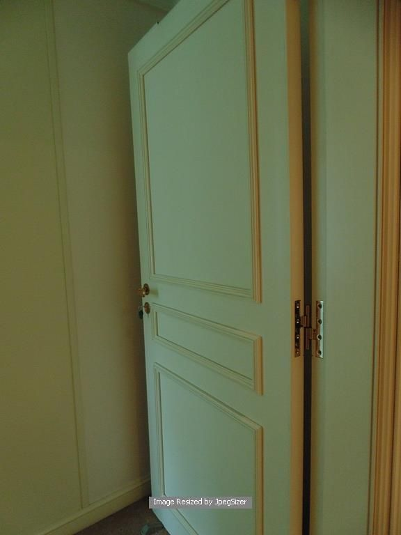 Lot 1240 - A white elegant solid core internal panel door 820mm x 1990mm x 45mm with premium hardware
