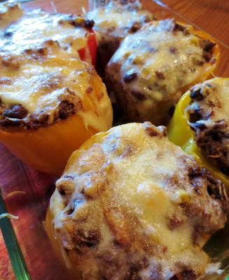 Our Rustic Life: Quinoa & Black Bean Mexican Stuffed Peppers