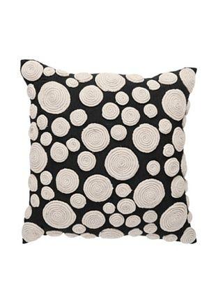 Snail Nature Pillow, Black/Beige, 18