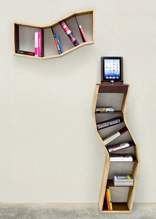 Accessories, Sara Bergando Segmented Book Shelving: 20 Creative Bookshelves  Contemporary And Unique Design