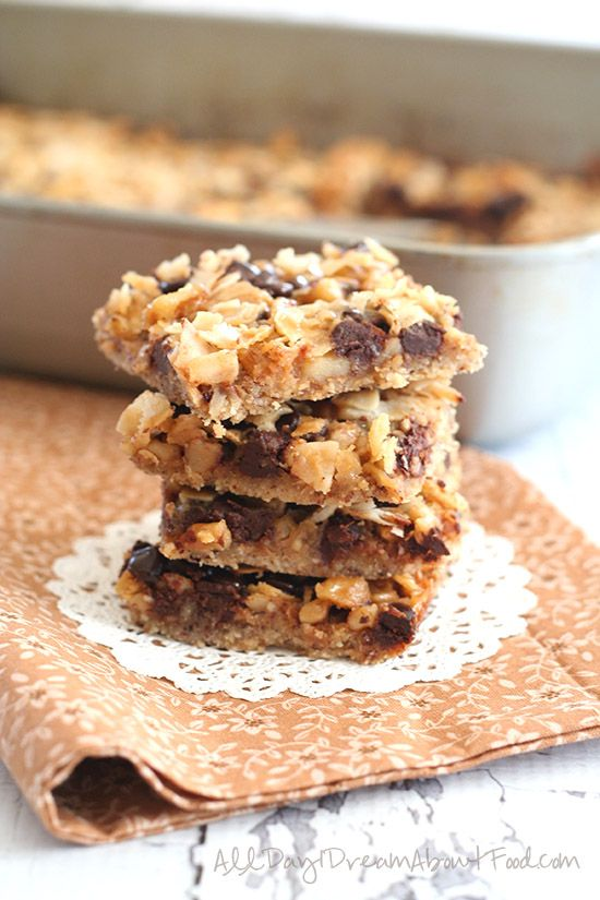Low Carb Salted Caramel Magic Cookie Bars   All Day I Dream About Food