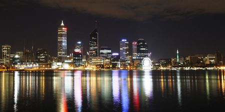 Interior Design and Home Decoration Artwork from Art Australia - buy this original signed print in 3 sizes.  Perth City of Lights I by David Rennie available via http://www.art-australia.com/perth-city-of-lights-i-by-david-rennie/