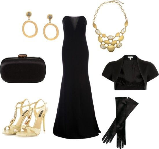 Jewelry to wear with a long black strapless dress or gown