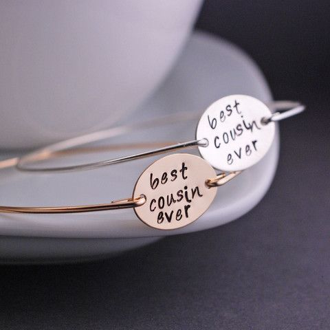 georgiedesigns - Best Cousin Ever Bracelet, Gift for Cousin, Personalized Family Jewelry, Cousin Gift