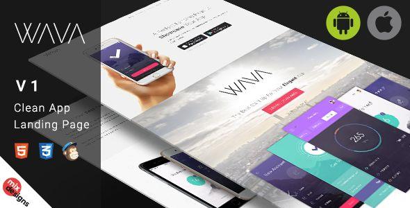 Wava App Landing Page