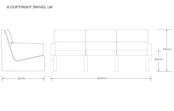Jesper Holm | 3 Seater Sofa | SWIVELUK.COM