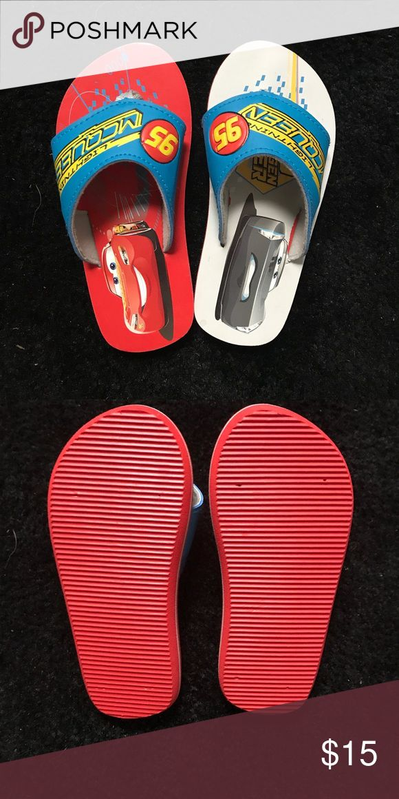 🚗 ☀️Cars toddler flip flops 🚗 ❤️Adorable Cars Lightning McQueen 🌩 Toddler flip flops.  Never worn-took the tags off.  Size 10. Disney Shoes Sandals & Flip Flops
