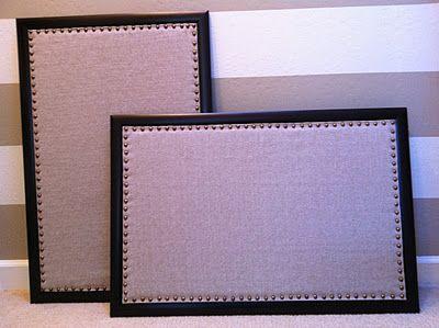 Elegant Nest: Fabric Covered Bulletin Boards. Prettiest Bulletin Boards I've Ever Seen.