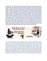 Domazon Web Design Company in India and Indian Website Development Company in Erode Tamil Nadu - docslide