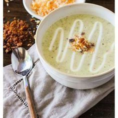 Roasted poblano and white cheddar soup