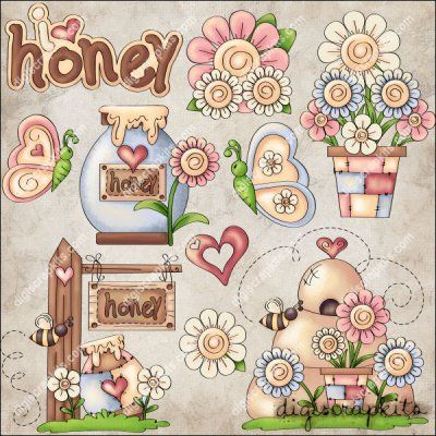 Happy Spring 1 Clip Art Set