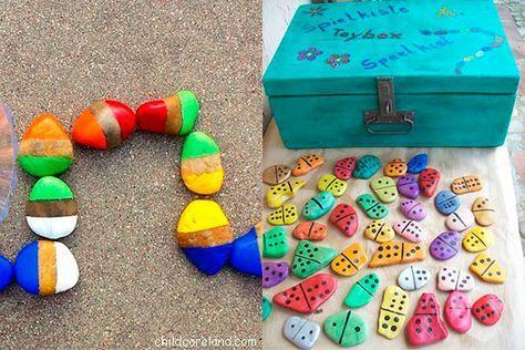 Juegos de mesa caseros Más Diy And Crafts, Crafts For Kids, Bilingual Classroom, Frappe, Rock Art, Projects To Try, Play, Reggio, Math