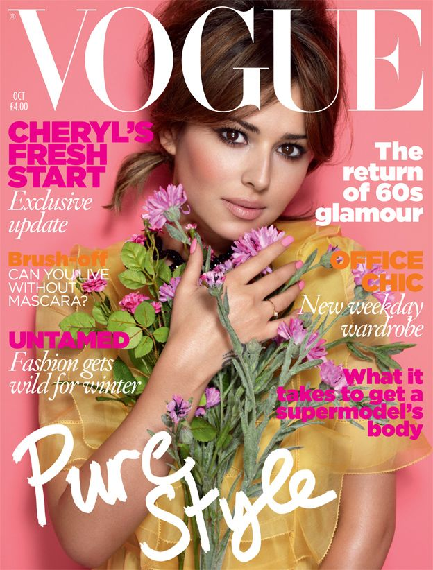 October 2010 Cheryl Cole wears organza dress with beaded collar, from £2,530, Valentino. Ring, Cheryl's own. All hair and make-up by L'Oréal Paris. Hair: Luke Hersheson. Make-up: Val Garland. Fashion editor: Lucinda Chambers