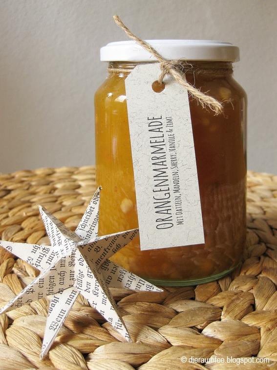 Orangenmarmelade mit Datteln, Mandeln, Sherry, Zimt & Vanille // Orange Marmalade with dates, almonds, sherry, cinnamon & vanilla