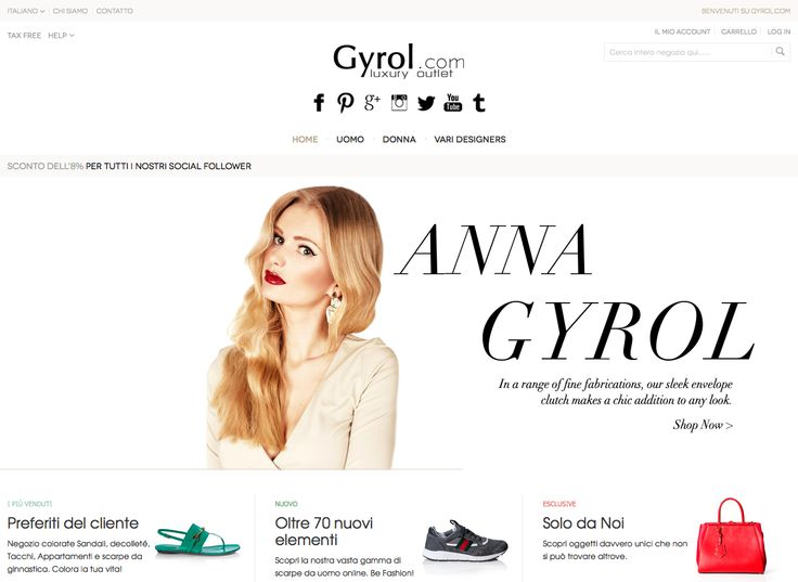 Welcome to the world of quality and style, the capital of fashion and chic, exclusive reality that I created for you directly from Milan. Welcome to Gyrol Outlet of Gyrol Anna.