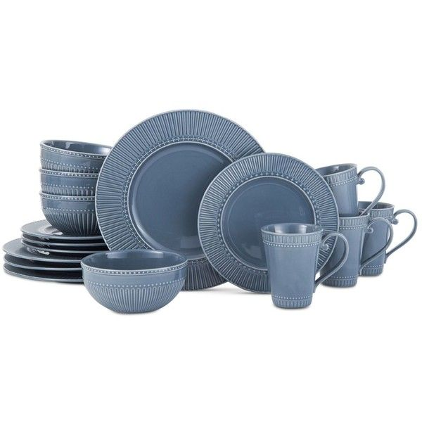 Mikasa Italian Countryside Blue 16-Piece Dinnerware Set, Service for 4 ($80) ❤ liked on Polyvore featuring home, kitchen & dining, dinnerware, blue group, italian countryside dinnerware, blue dinnerware sets, mikasa dinnerware set, blue dinnerware and mikasa