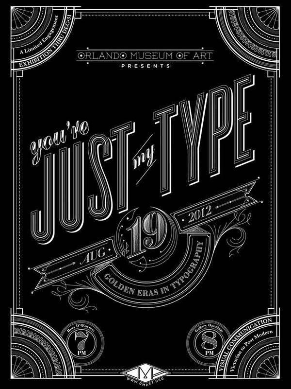 typography exibition chalkboard