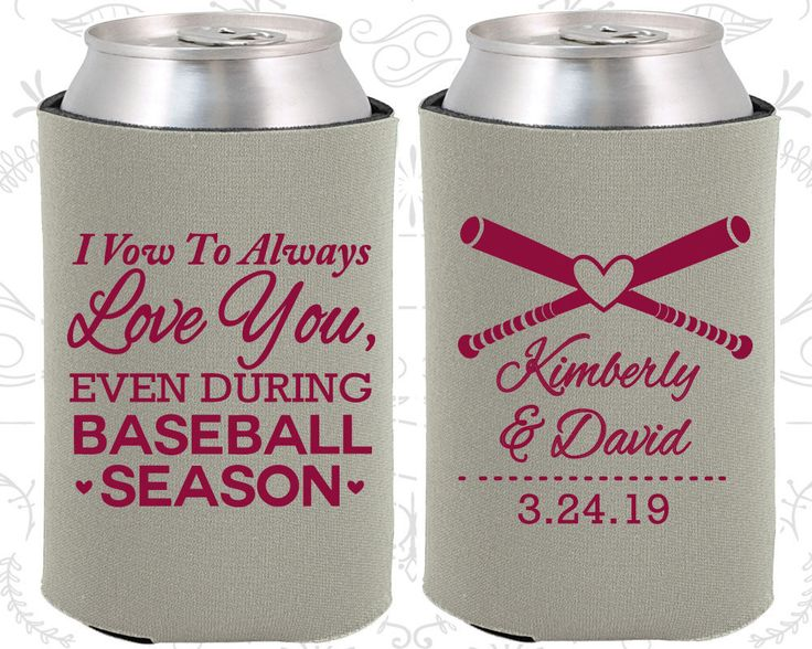 I Vow to Always Love You, Even During Baseball Season, Personalized Wedding Favors, Baseball Wedding Favors, Coozies (301)