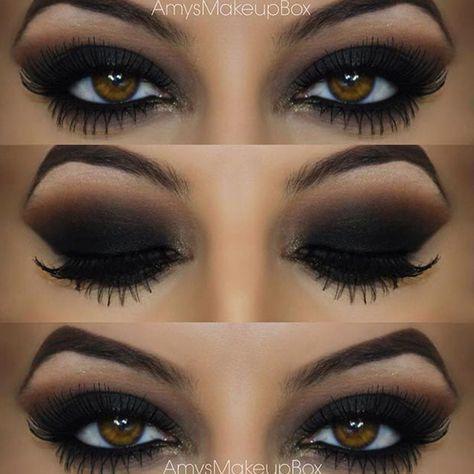 Maquiando: Olho preto esfumado - inspirações para você arrasar