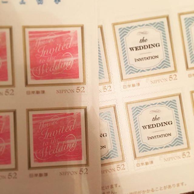 オーダーした52円切手が届きました!52円以上したけど(笑)やっぱり可愛い☺️頼んで良かったー♬ #招待状 #結婚式 #プレ花嫁 #アニヴェルセル #慶事用切手