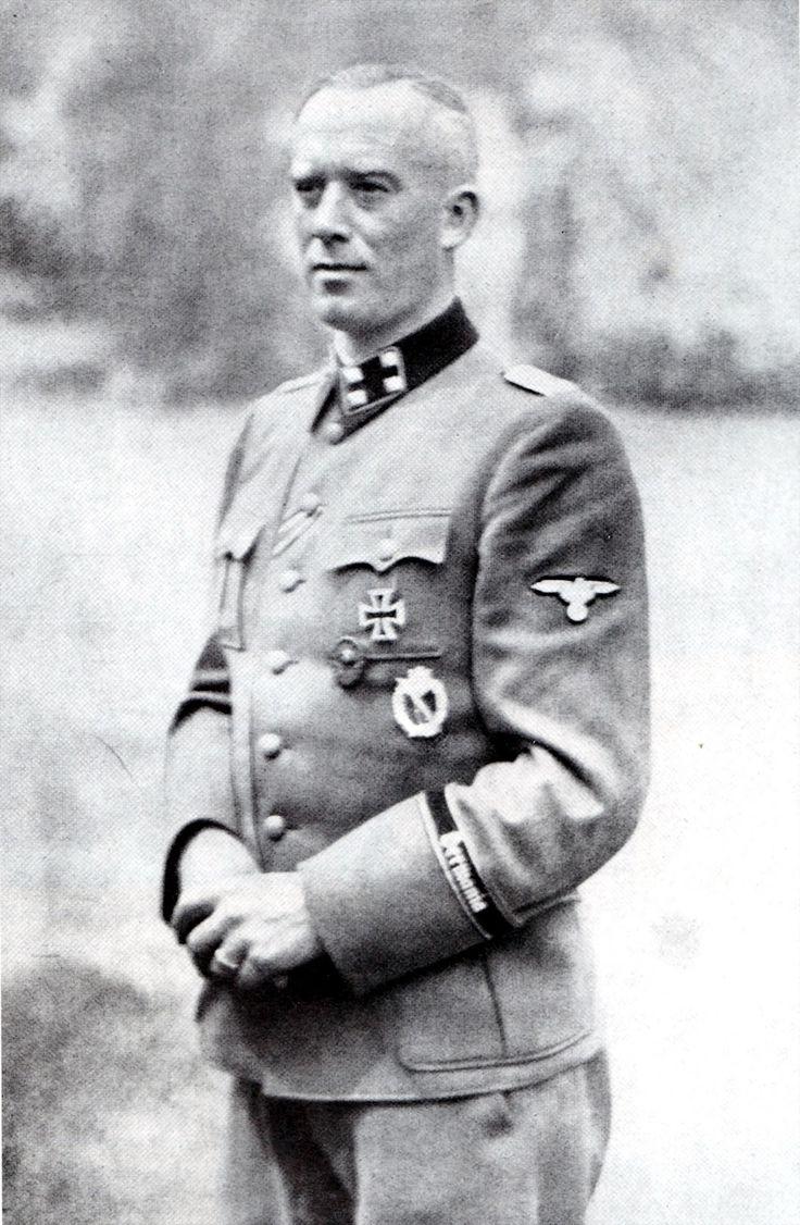 """SS-Sturmbannführer Hans Albert Lettow-von-Vorbeck Commander """"Freikorps Danmark"""" who was killed in action on 11th June 1942."""