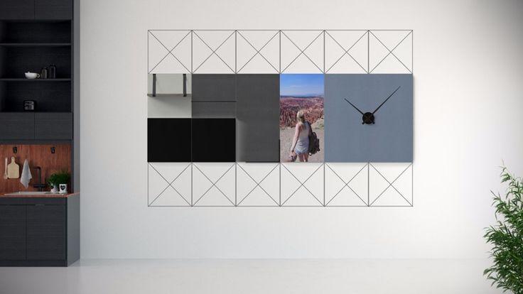"""Een ontwerp van Janick: """"Super gaaf ontwerp voor aan de wand in onze nieuwbouw woning die begin 2016 wordt opgeleverd."""""""