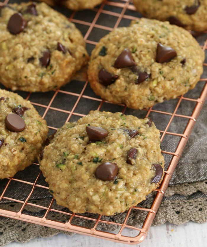 healthy Oat Zucchini and Chocolate Chip Biscuits