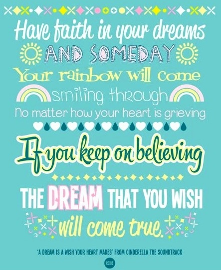 A Dream is a Wish your heart makes Cinderella lyrics ... A Dream Is A Wish Your Heart Makes Lyrics