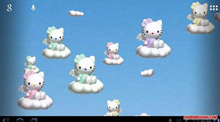 Hello Kitty Galaxy Wallpaper | Hello Kitty Fly Live Wallpaper - Обои с Китти
