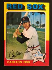 1975 Topps Carlton Fisk 80 Baseball Card Baseball Cards Baseball Trading Cards Baseball