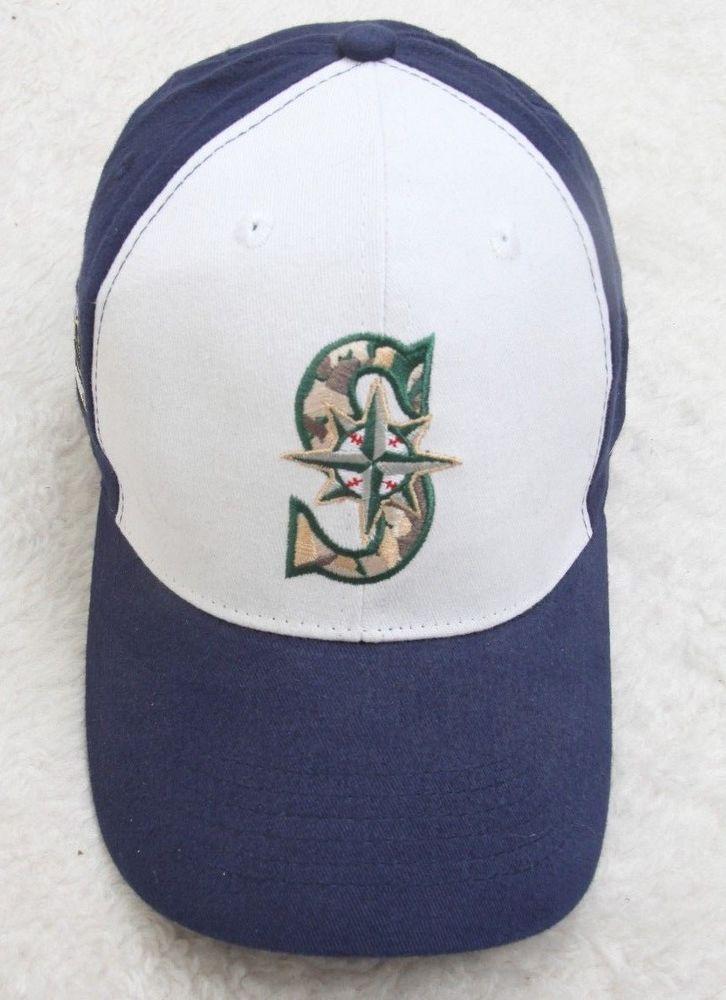 New Seattle Mariners US Army Baseball Cap Hat Adult Blue White 1 Size Fits All  #SeattleMariners #BaseballCap