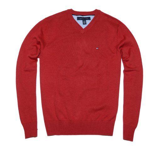 tommy hilfiger men logo v neck sweater pullover for only. Black Bedroom Furniture Sets. Home Design Ideas