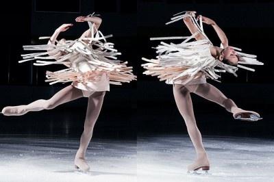 Fashion shoot on ice