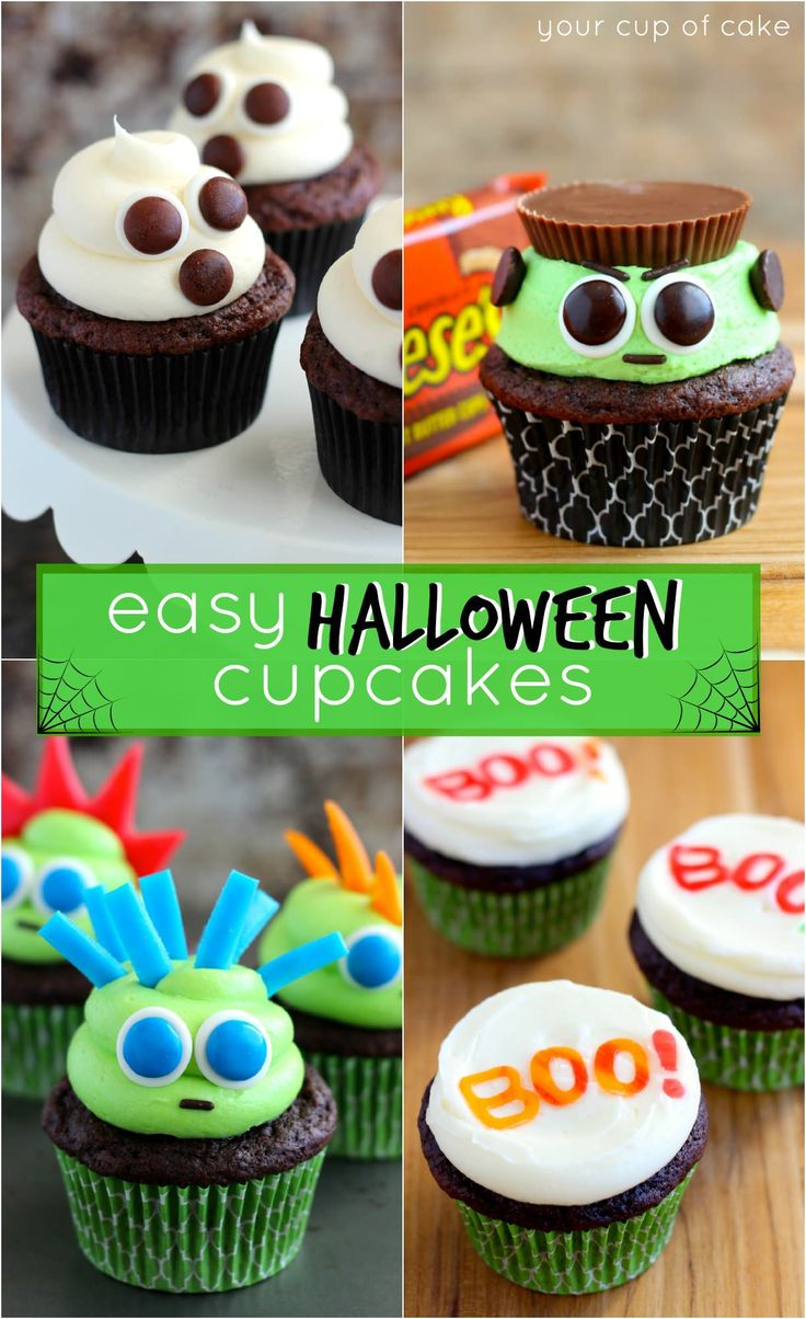 easy halloween cupcake ideas - Halloween Decorated Cakes