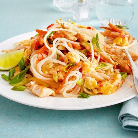 Phad Thai mit Shirataki-Nudeln. Kalorien 330ckal/p.P.