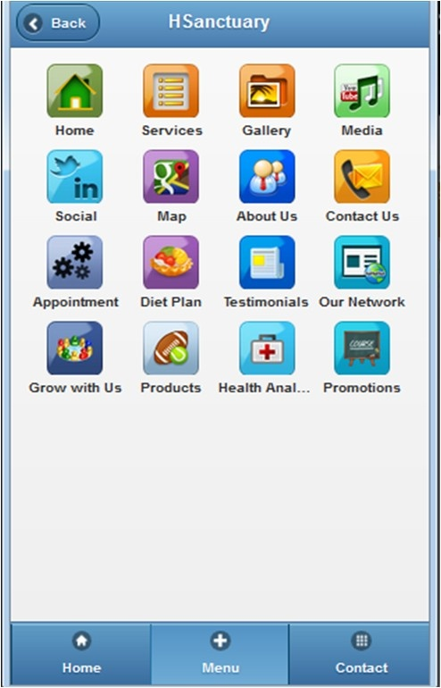 Health app, Health sanctuary, App page, Mobile App, custom page, html, android