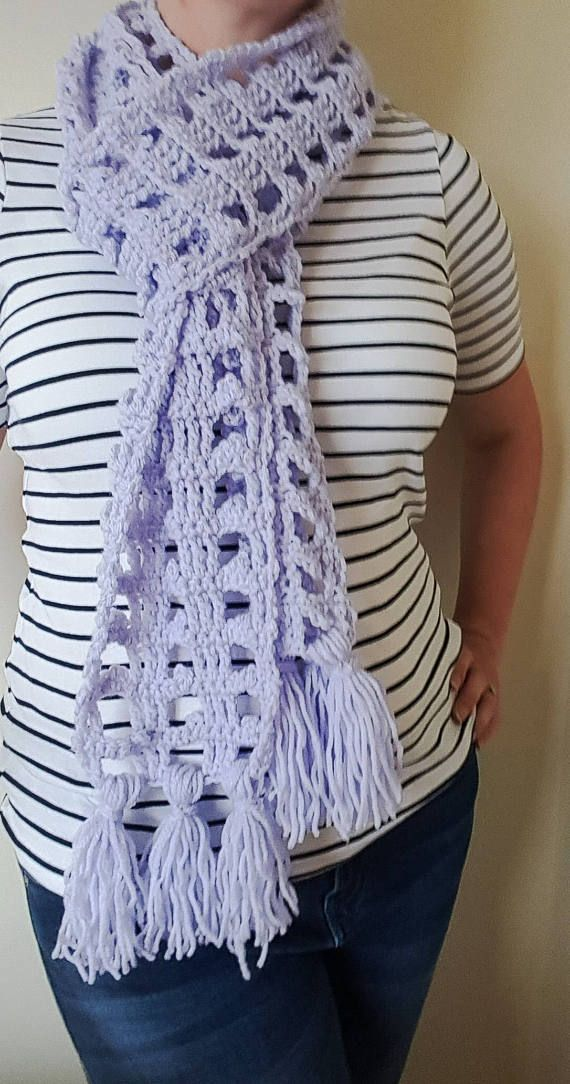 Hey, I found this really awesome Etsy listing at https://www.etsy.com/ie/listing/539098503/lavender-crochet-light-summer-scarf-gift