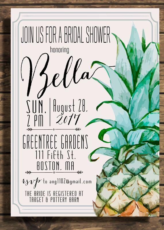 Pineapple Invitation Pineapple Bridal Shower Pineapple