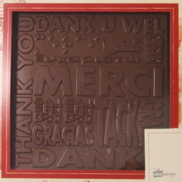 Plaque De Chocolat Au Lait Merci Chocolat Au Lait Cadeaux De