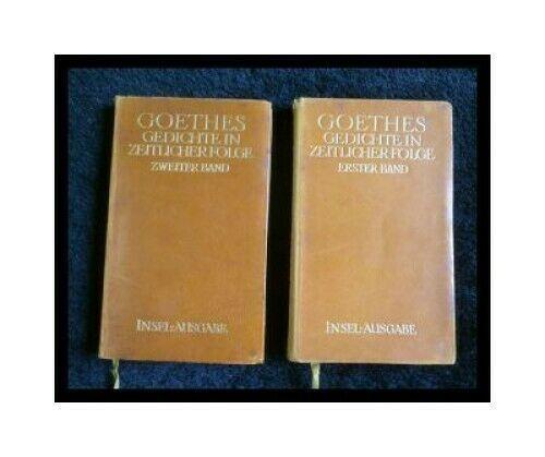 Goethes Gedichte In Zeitlicher Folge 2 Bãnde Grãf Hans