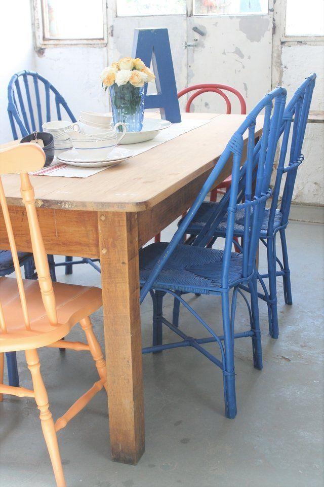 25 ideas destacadas sobre sillas pintadas en pinterest for Sillas comedor ligeras