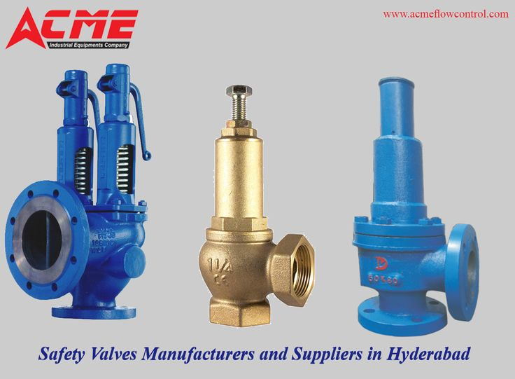 ACME Industrial Equipment's Company is leading manufacturer, supplier & exporter of  Safety valves. These Safety Valves are precision engineered valves which are available in various shapes and sizes. For more info visit us @  https://goo.gl/3ed5ZA Call us  9908082672 #valves #safetyvalves #safetvalvesmanufacturersinhyderabad #safetyvalvessuppliersinhyderabad #checkvalves #controlvalves #controlvalves #fitttings