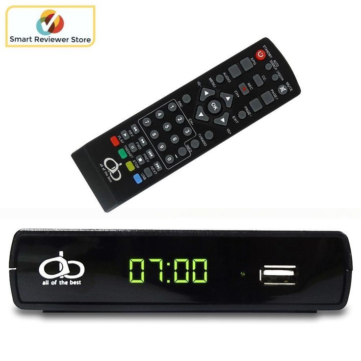 Analog To Digital TV Television Converter Full HD 1080p USB With Remote Control #AOB