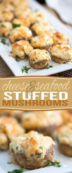 Decadent, slightly indulgent, but filled with loads of nutritious ingredients like cheese, cream cheese, onions, shrimp, garlic, and mushrooms, these Cheese and Seafood Stuffed Mushrooms are guaranteed to be a hit at your next party!:The recipe is very low in carbohdrate so it's a great match for low carb and keto diets.