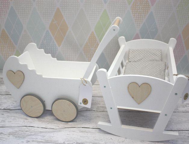 Wózek dla Lalek + kołyska ZESTAW Pościel Okazja - montownia_zabawek - Wózki dla lalek