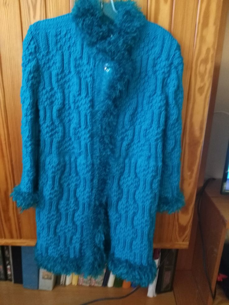 Knitted Winter Coat for 8 year girl