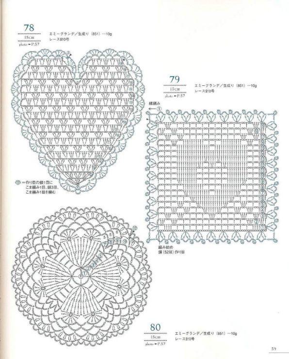 Crochet heart diagram patterns patterns kid 40 crochet hearts diagram patterns and 350x661 galleryru ccuart Images